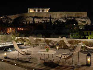 Herodion Hotel Athens - Our roof garden with the magnificent view of the Acropolis