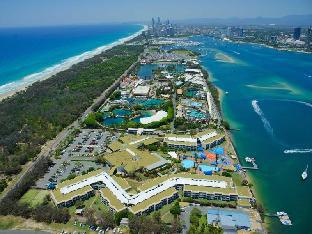 Aerial view of Sea World Resort and Sea World