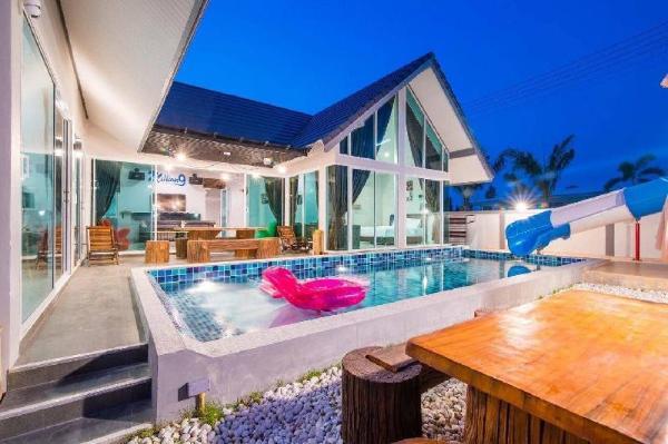 Cha-am resort 4BR pool villa with slider - VVH29 Hua Hin