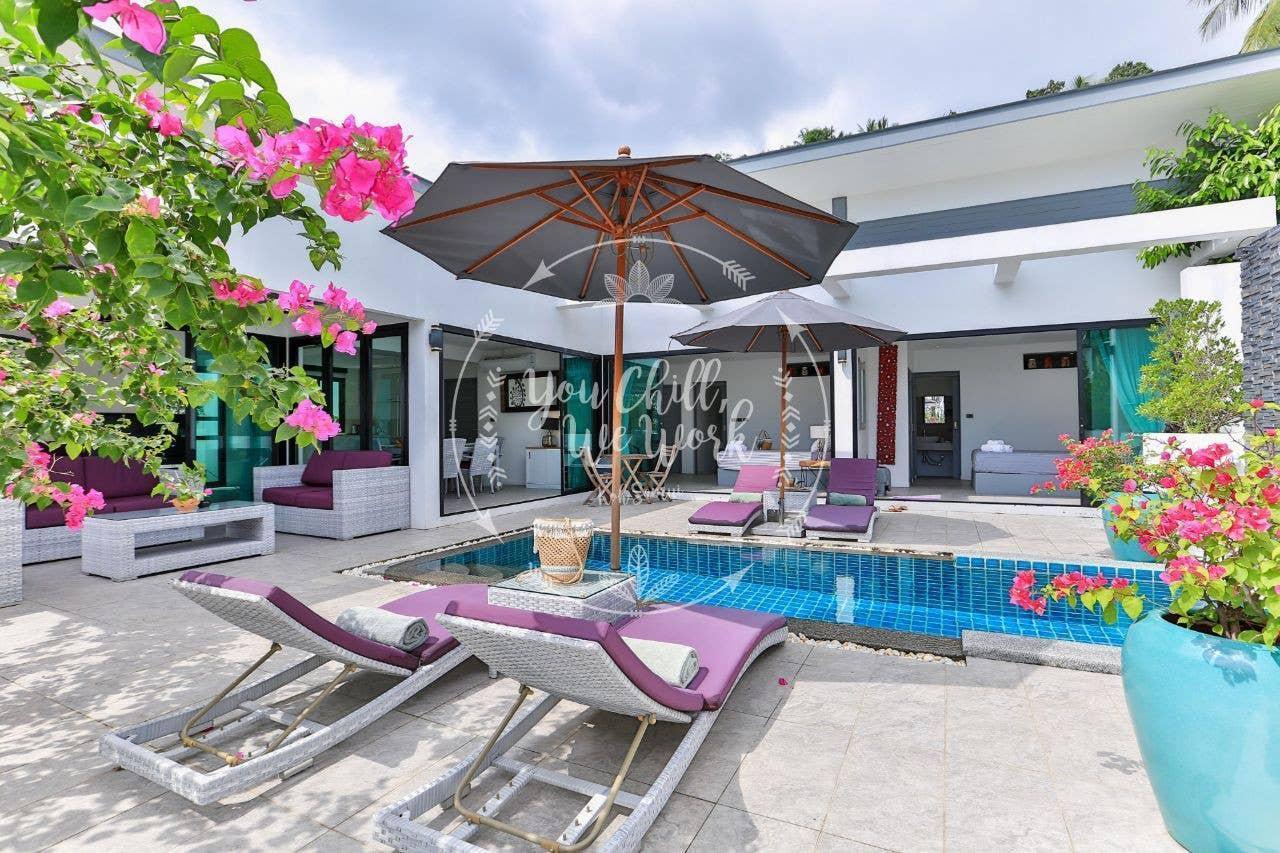 Villa Mourmel 3 bedrooms 500 m From The Beach วิลลา 3 ห้องนอน 3 ห้องน้ำส่วนตัว ขนาด 240 ตร.ม. – หาดละไม