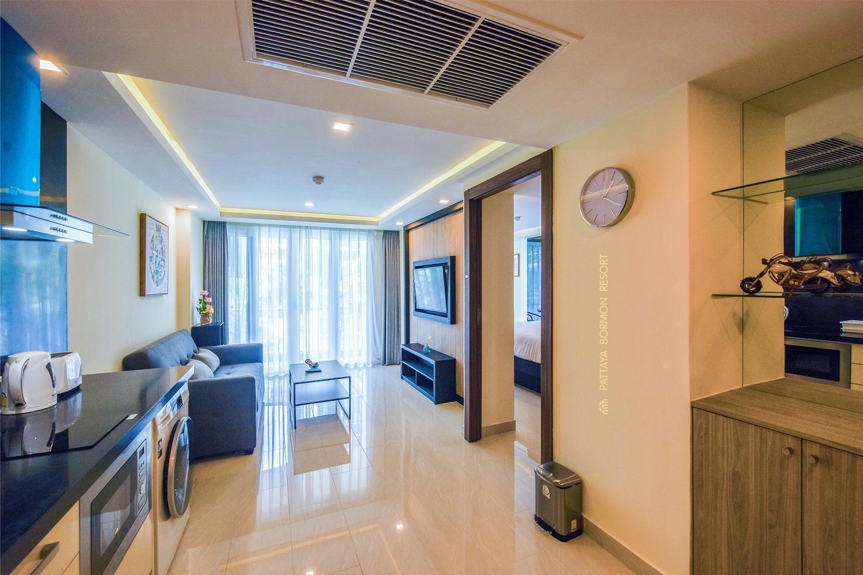Quartier.15 Pattaya Grand Avenue Condo 51 อพาร์ตเมนต์ 1 ห้องนอน 1 ห้องน้ำส่วนตัว ขนาด 36 ตร.ม. – พัทยากลาง
