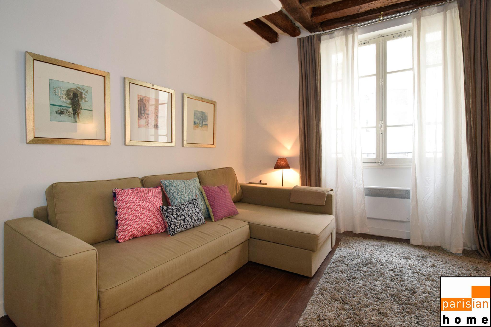 101184 - Cosy and original apartment for 4 people next to the Louvre