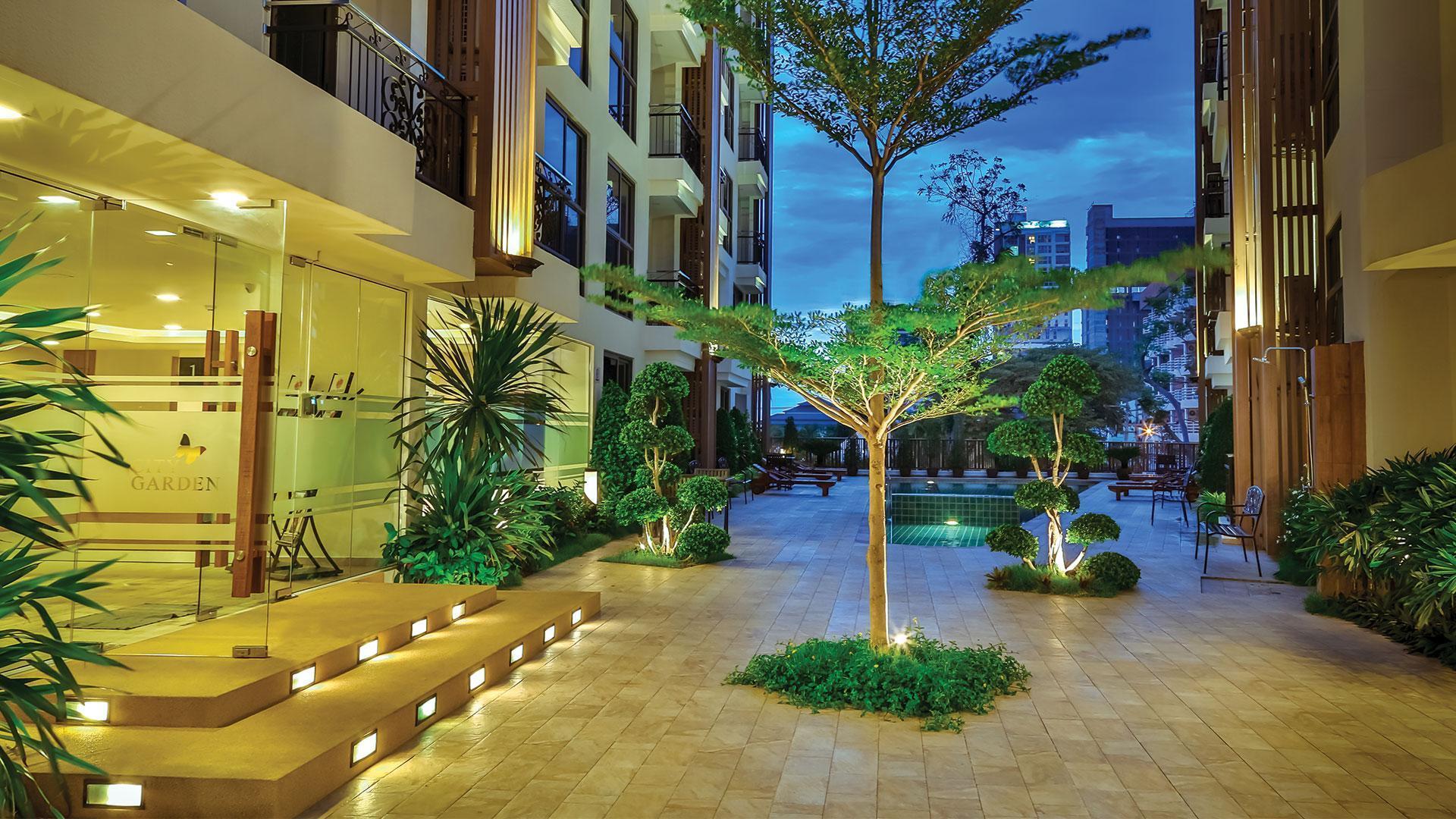 City Garden Pratumnak Studio Suite อพาร์ตเมนต์ 1 ห้องนอน 1 ห้องน้ำส่วนตัว ขนาด 26 ตร.ม. – เขาพระตำหนัก