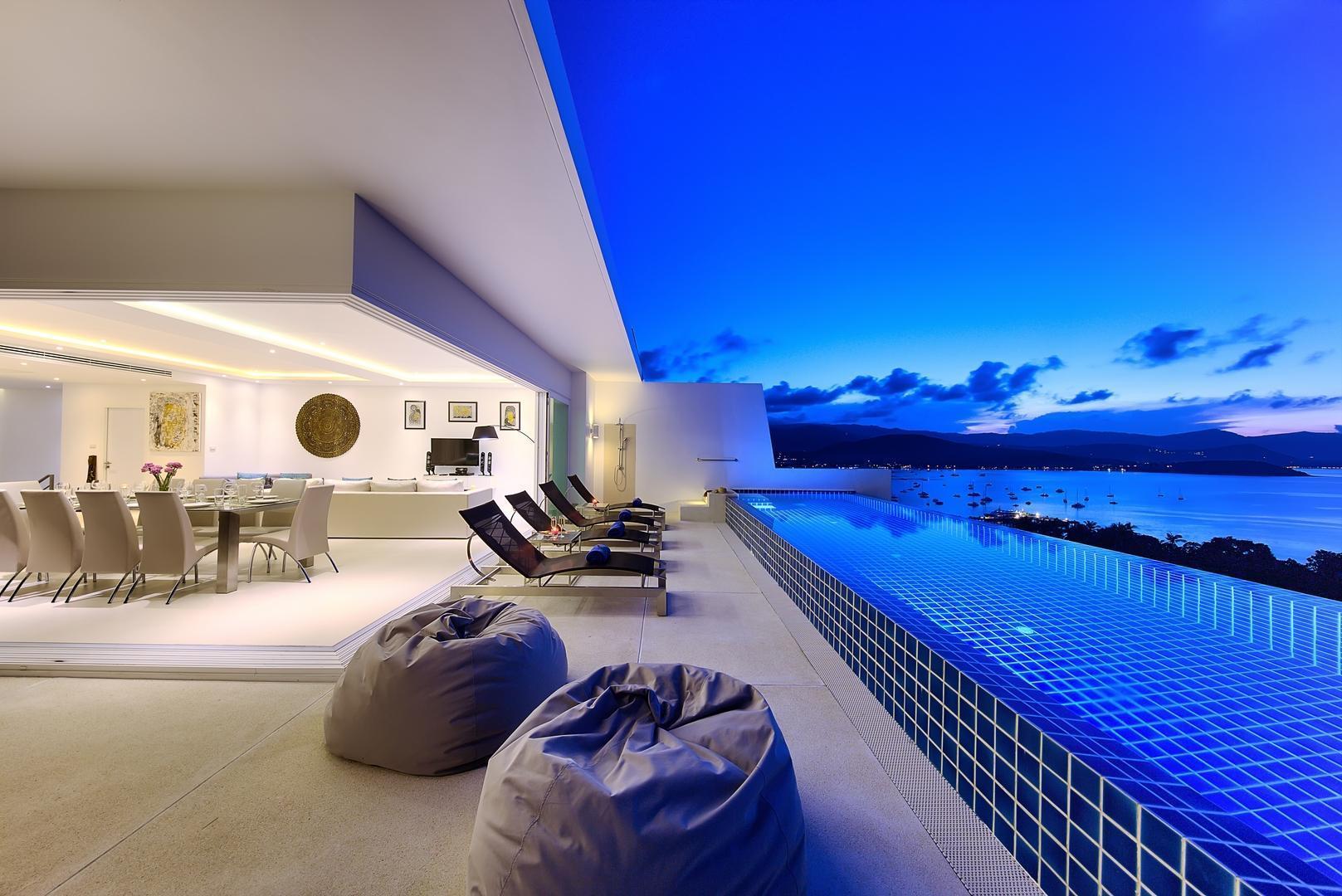 Luxury Villa with Pool & Ocean View วิลลา 4 ห้องนอน 5 ห้องน้ำส่วนตัว ขนาด 495 ตร.ม. – เชิงมน