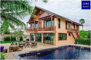 [プランブリー]ヴィラ(400m2)| 6ベッドルーム/7バスルーム BeachFront Poolvilla for 20 person |Pranburi Beach