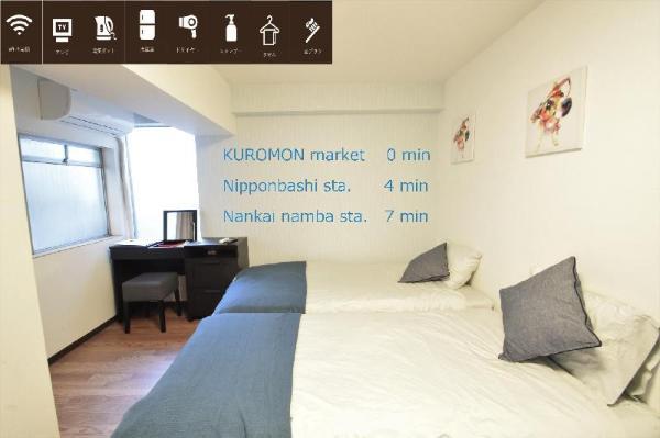 S&W 1 Bedroom Apt near Kuromon Market 303 Osaka