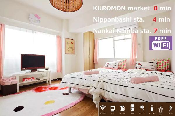 S&W 1 Bedroom Apt near Kuromon Market 305 Osaka