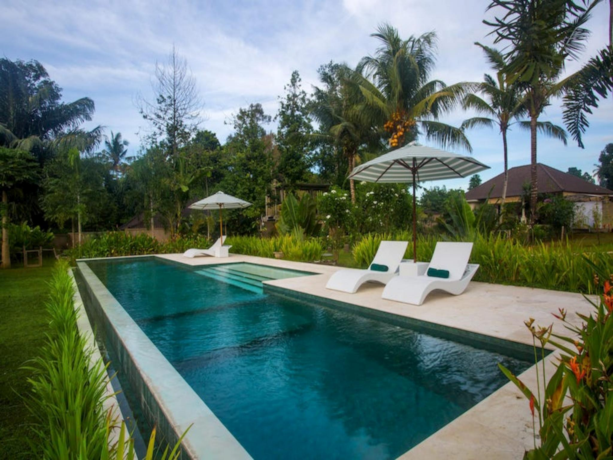 Vista garden villa 1 bed large pool central Ubud