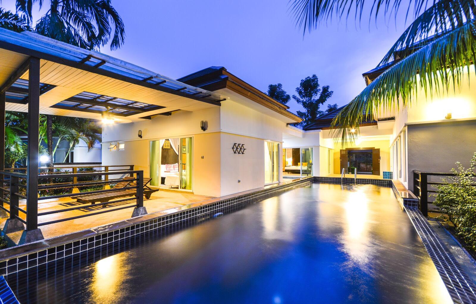 Les Palm Waterfall Pool Villa