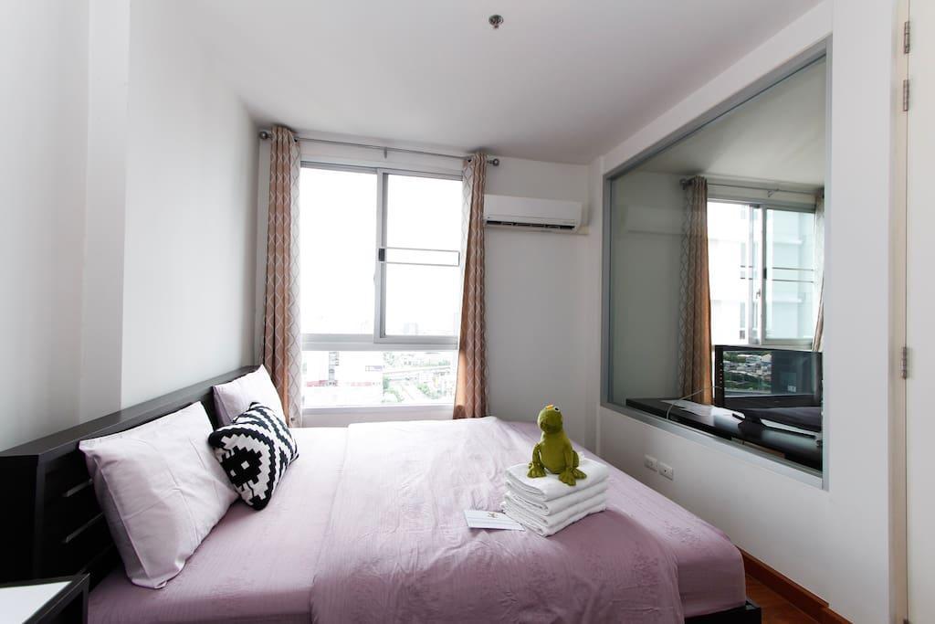Comfort Suite 36.5sqm+30M Wifi+Netflix+BTS+Mall5