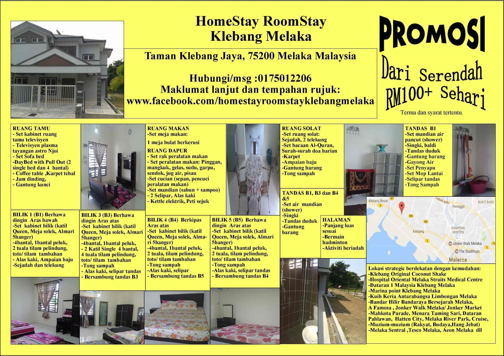 HomeStay RoomStay Klebang Melaka