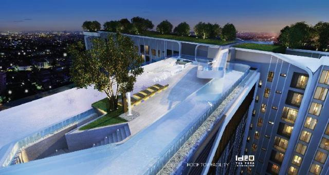 อพาร์ตเมนต์ 1 ห้องนอน 1 ห้องน้ำส่วนตัว ขนาด 28 ตร.ม. – ธนบุรี – 360 BigRooftoppool,Fitness,full amenities,Wifi,BTS