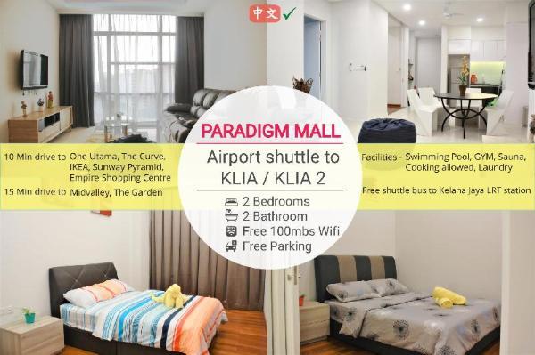 2BR @ Paradigm Mall |Direct Airport Shuttle Bus Kuala Lumpur