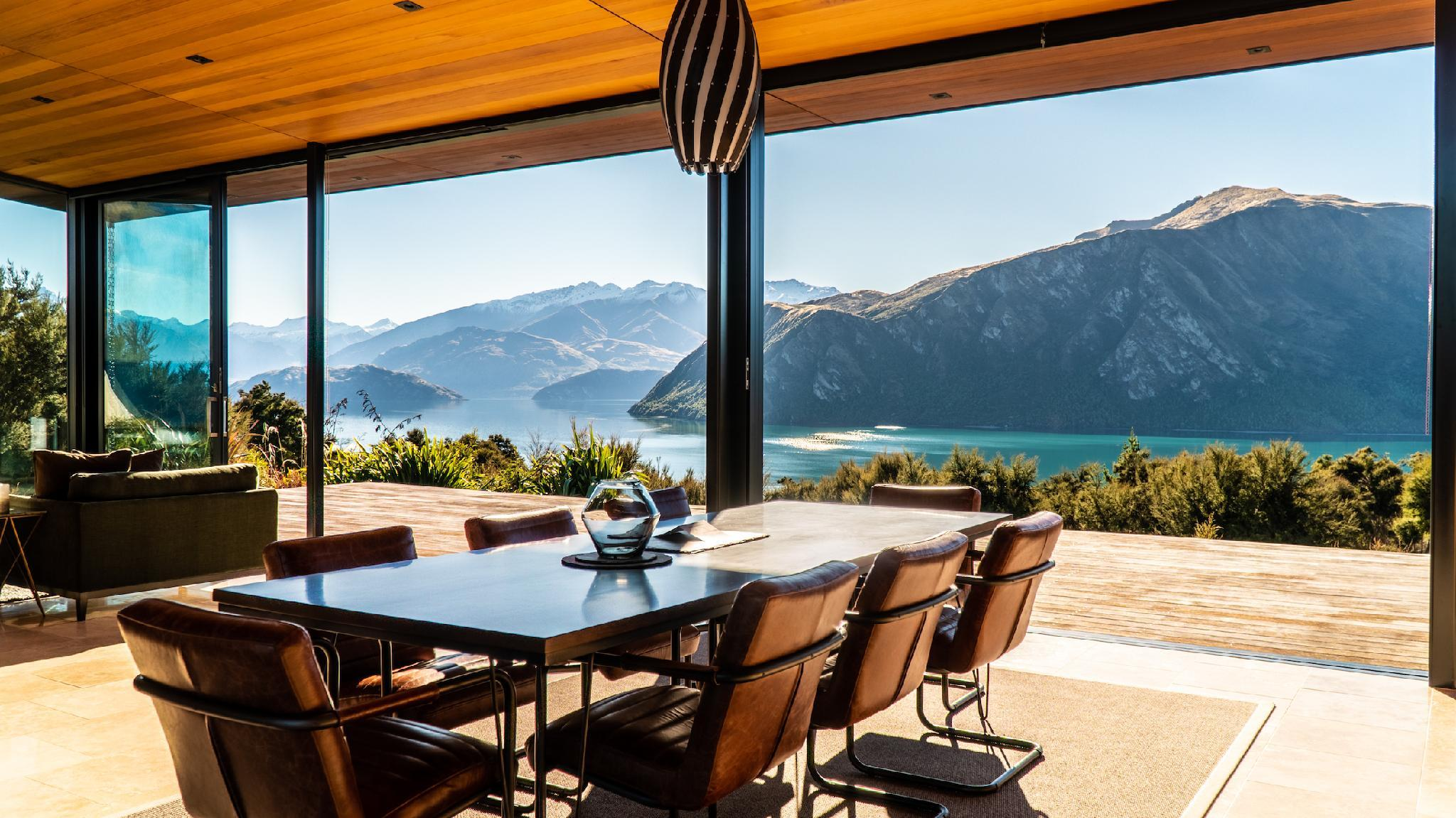 Breathtaking Views From His Architectural Home.