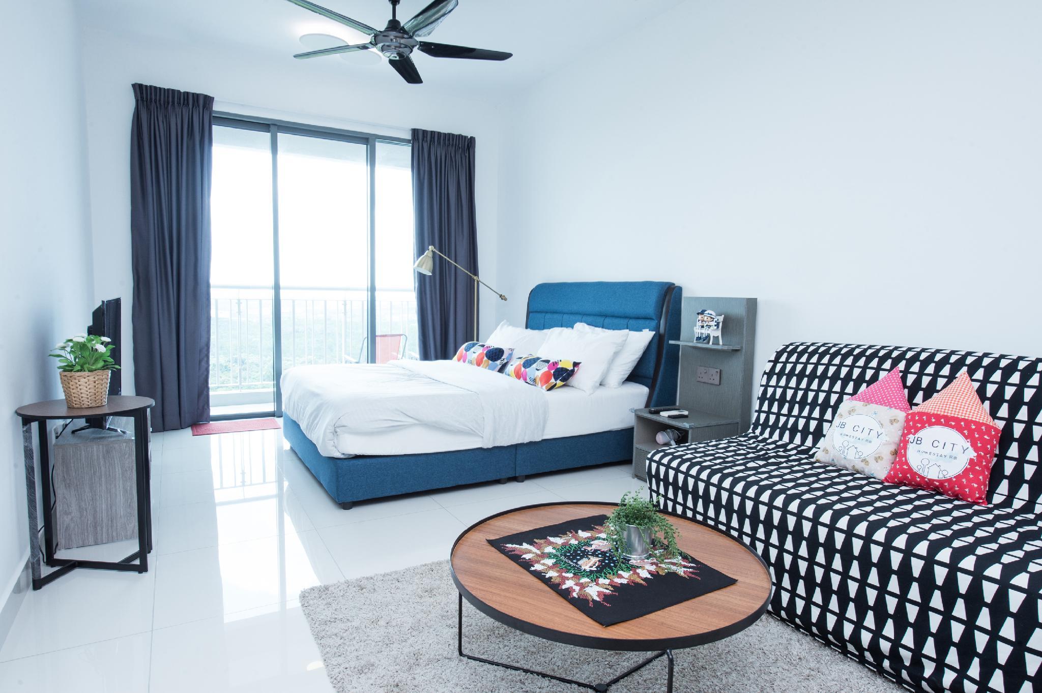 Teega Suites  3Pax  WIFI Studio @ JB City Home