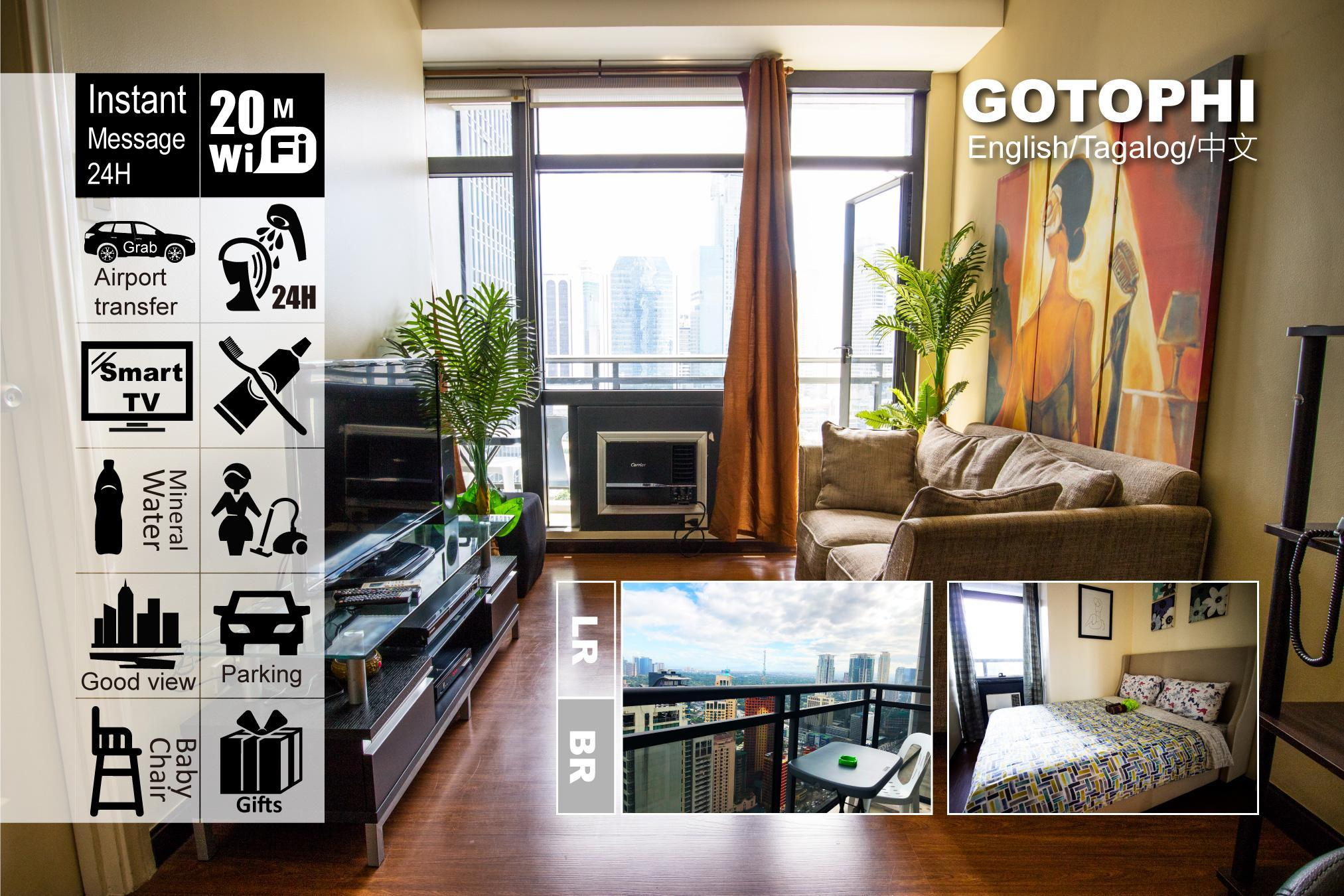 Gotophi 5Star Hotel 1BR Gramercy Makati 1704