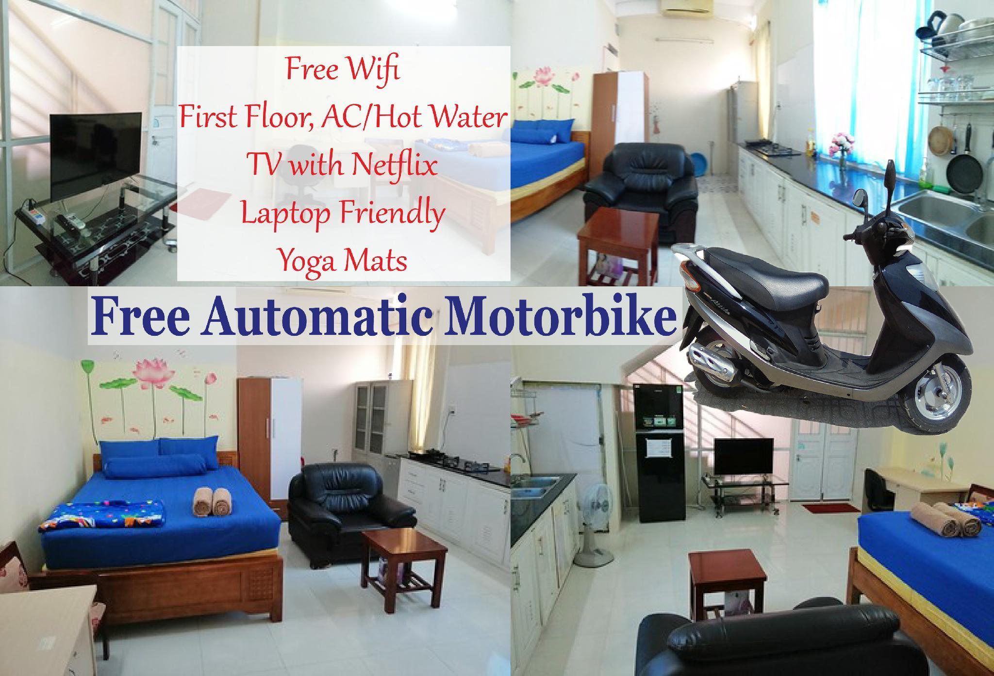 Free Motorbike   1st Floor Apartment TV W  Netflix
