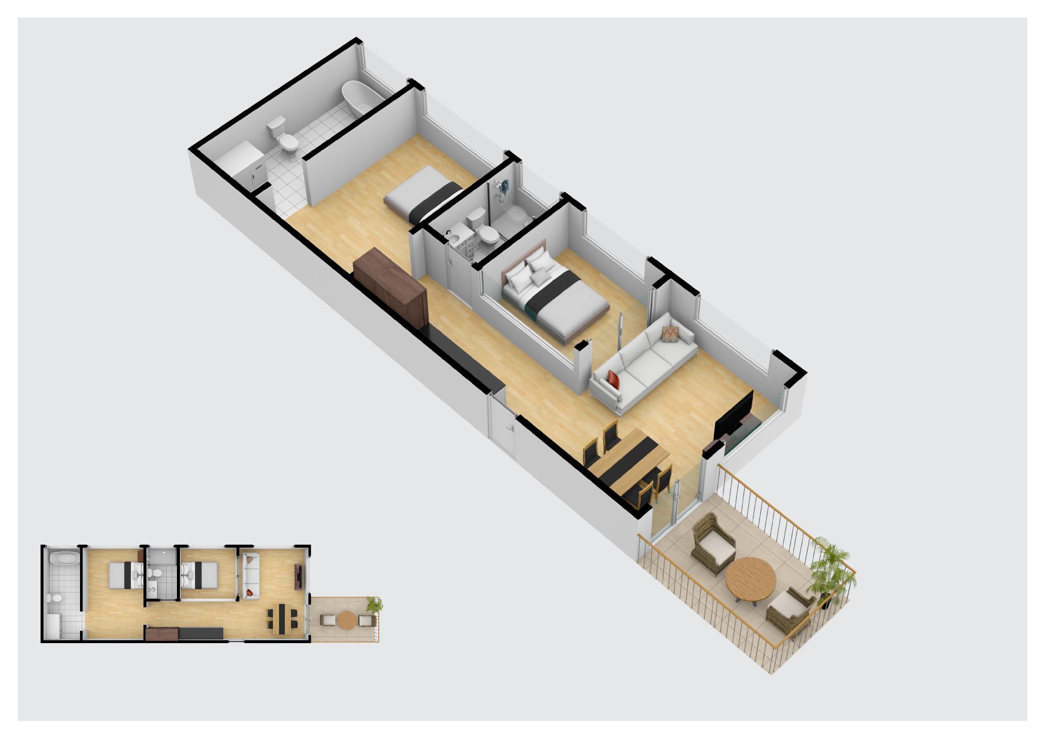 [2BR] Super cozy | Patong Beach,Phuket อพาร์ตเมนต์ 2 ห้องนอน 1 ห้องน้ำส่วนตัว ขนาด 50 ตร.ม. – ป่าตอง