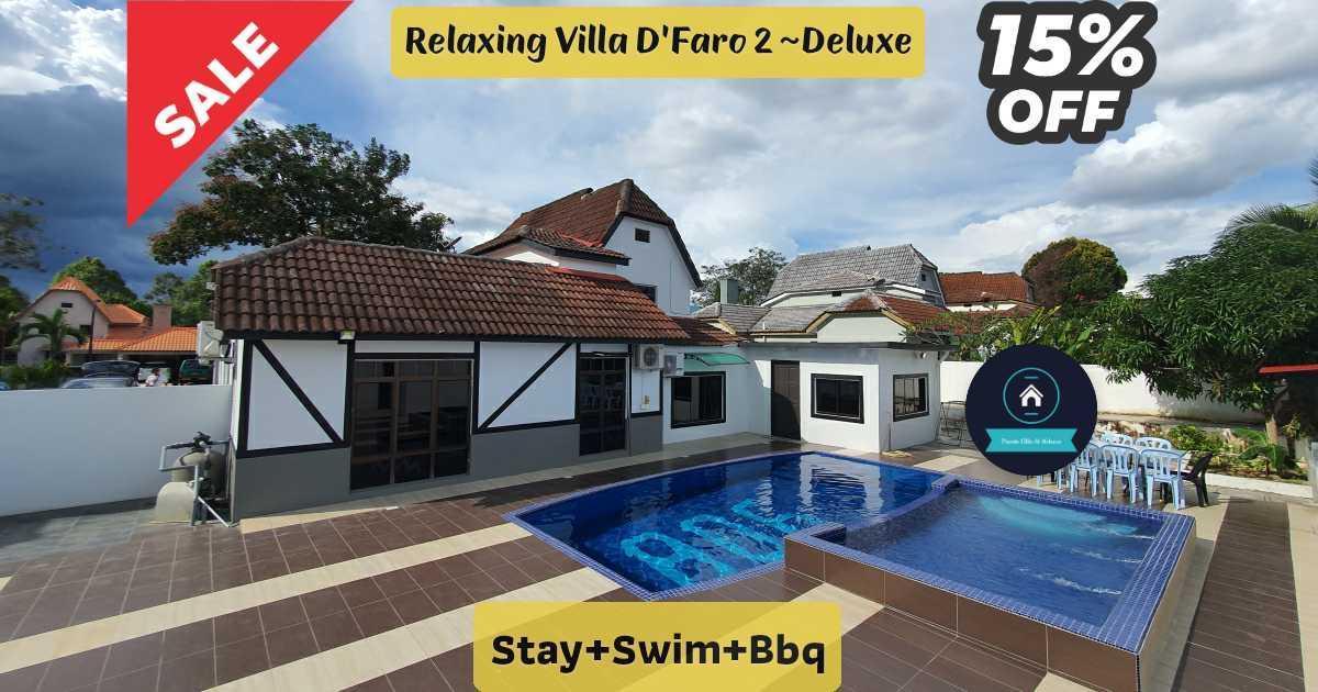 Relaxing Villa D'Faro 2 Deluxe Stay+Swim+Bbq
