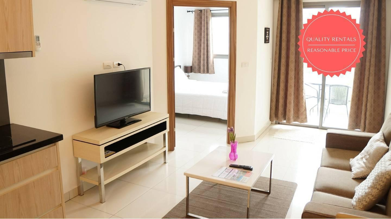 POOL VIEW Apartment in Laguna Beach Resort 2. อพาร์ตเมนต์ 1 ห้องนอน 1 ห้องน้ำส่วนตัว ขนาด 37 ตร.ม. – หาดจอมเทียน