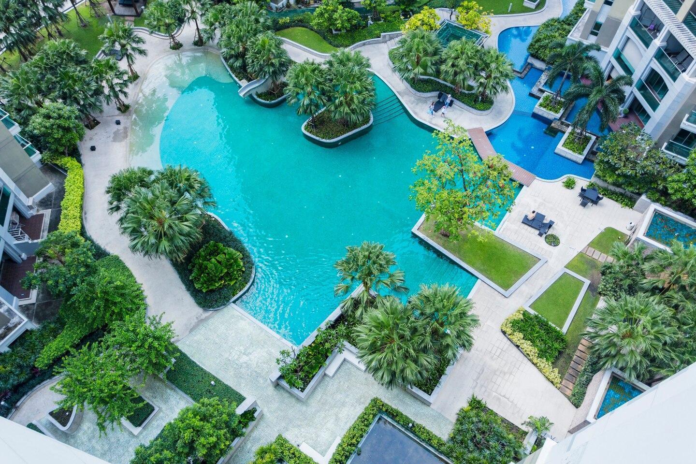 Nice Resort-like Condo in Central Bangkok中文服务 อพาร์ตเมนต์ 2 ห้องนอน 1 ห้องน้ำส่วนตัว ขนาด 77 ตร.ม. – รัชดาภิเษก