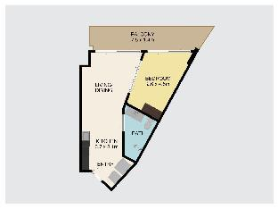 [カマラ]アパートメント(44m2)| 1ベッドルーム/1バスルーム 1 Bed SEA VIEW Apartment Close to beach - A32