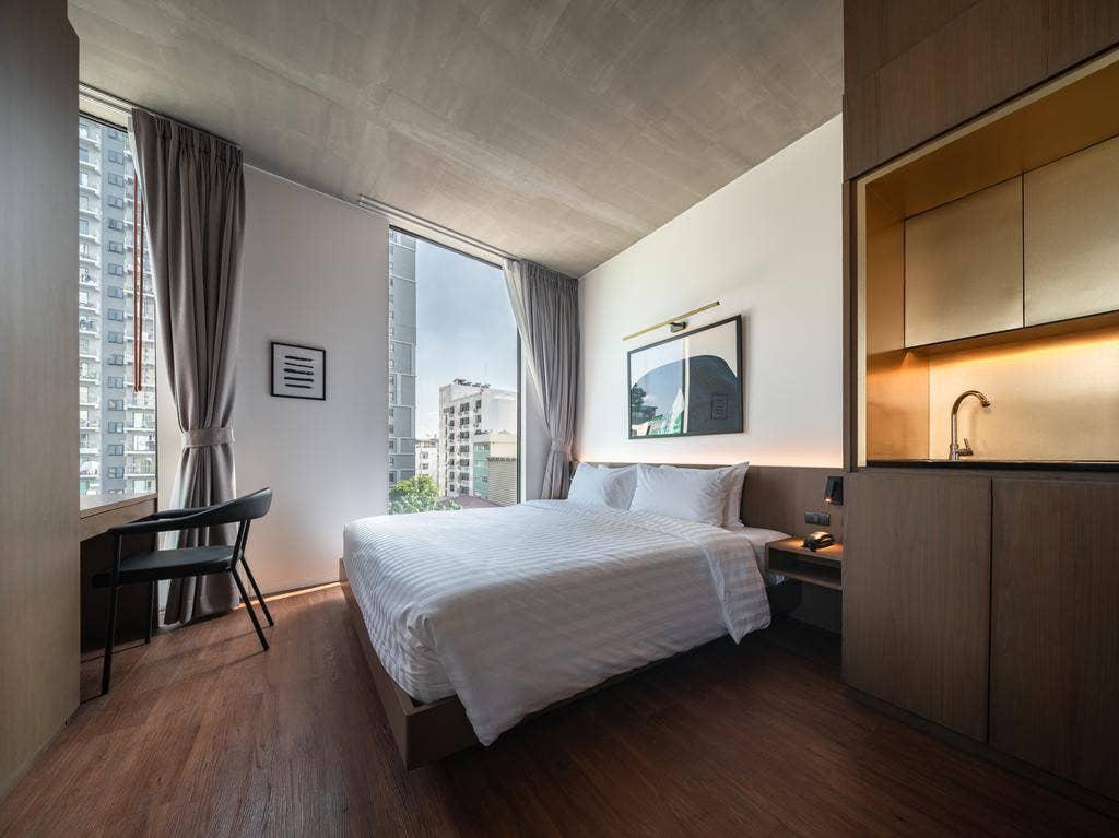 Apartment near Lumpinee park สตูดิโอ อพาร์ตเมนต์ 1 ห้องน้ำส่วนตัว ขนาด 55 ตร.ม. – ถนนวิทยุ