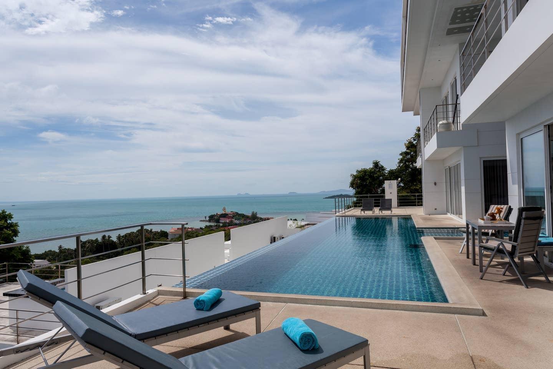 3 BR stunning Duplex Panoramic Sea View บ้านเดี่ยว 3 ห้องนอน 2 ห้องน้ำส่วนตัว ขนาด 200 ตร.ม. – หาดเฉวง