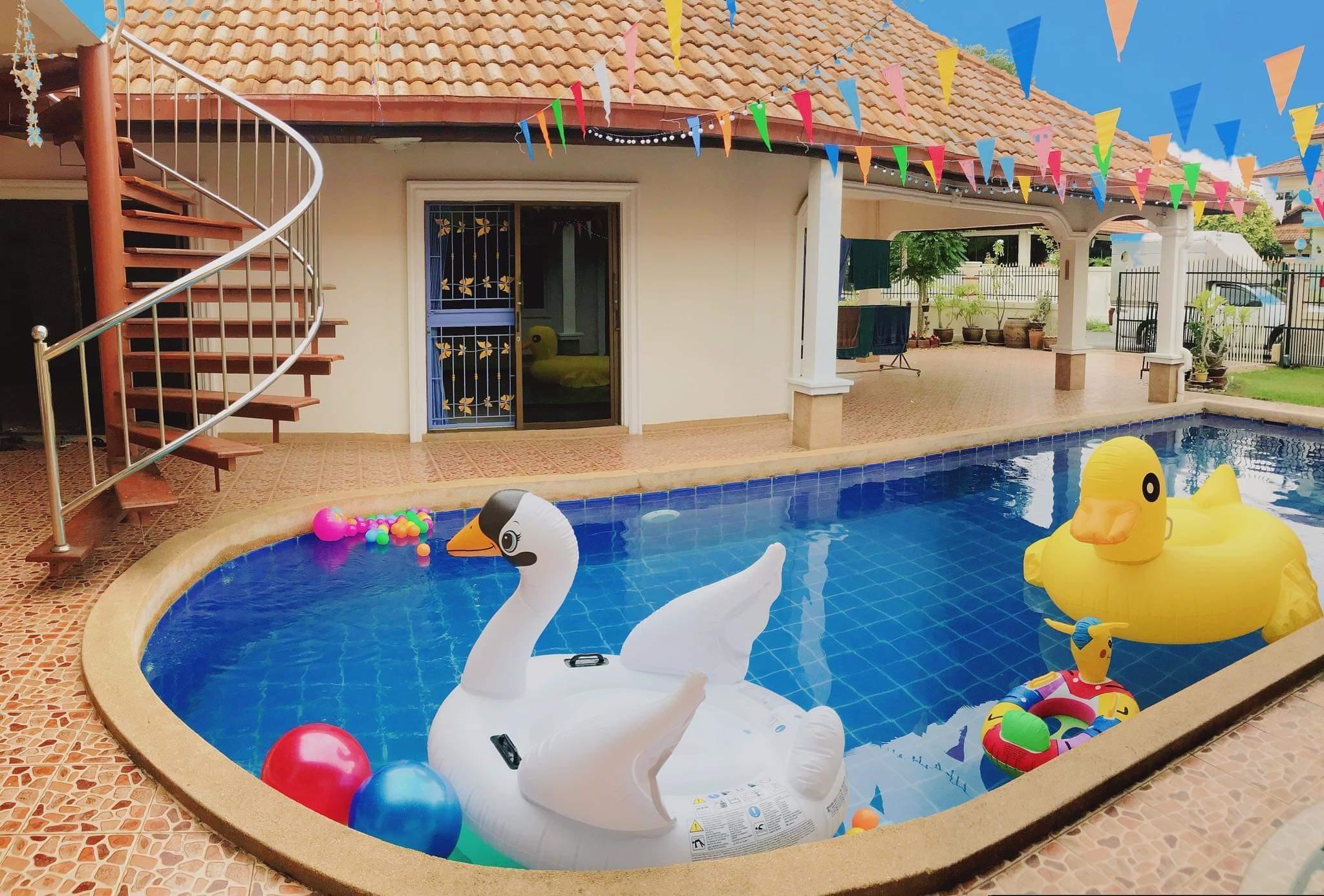 Pattaya Pool Villa By Arrowmini วิลลา 3 ห้องนอน 3 ห้องน้ำส่วนตัว ขนาด 700 ตร.ม. – มาบประชันเรเซอเวอร์