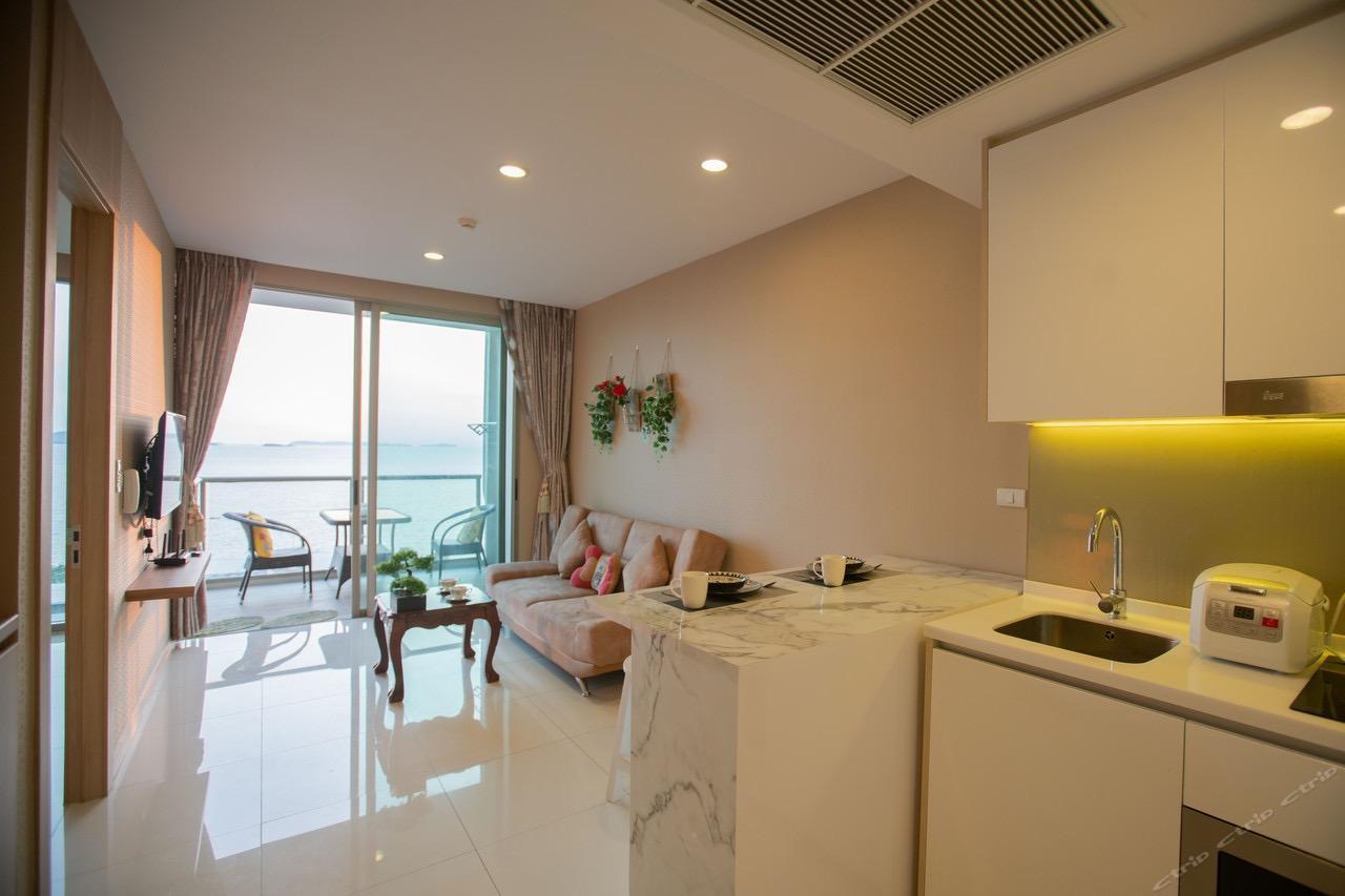 Seaview  Apartment Hotel Room A อพาร์ตเมนต์ 1 ห้องนอน 1 ห้องน้ำส่วนตัว ขนาด 65 ตร.ม. – หาดวงอมาตย์