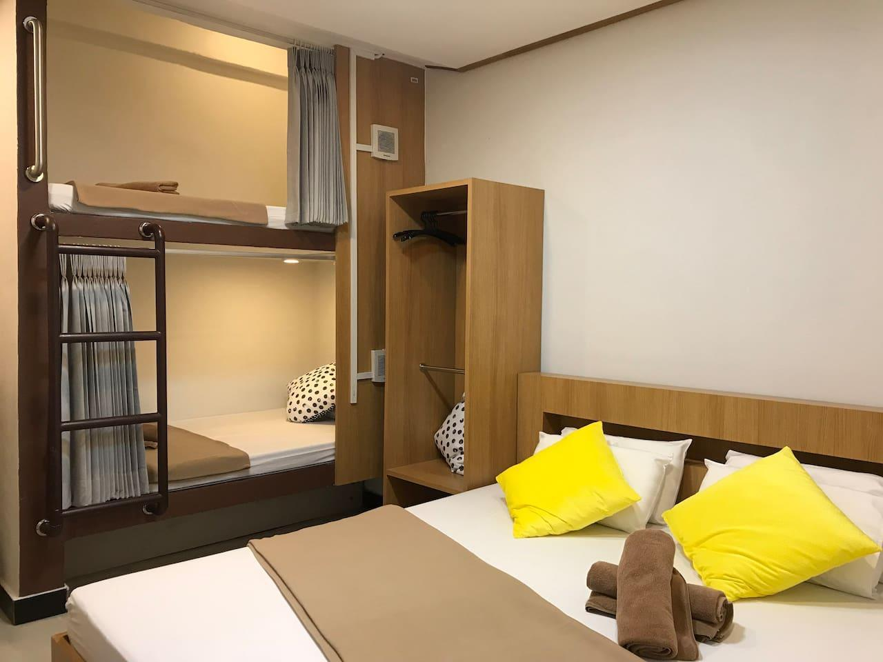 Express Hostel อพาร์ตเมนต์ 1 ห้องนอน 1 ห้องน้ำส่วนตัว ขนาด 30 ตร.ม. – สาทร