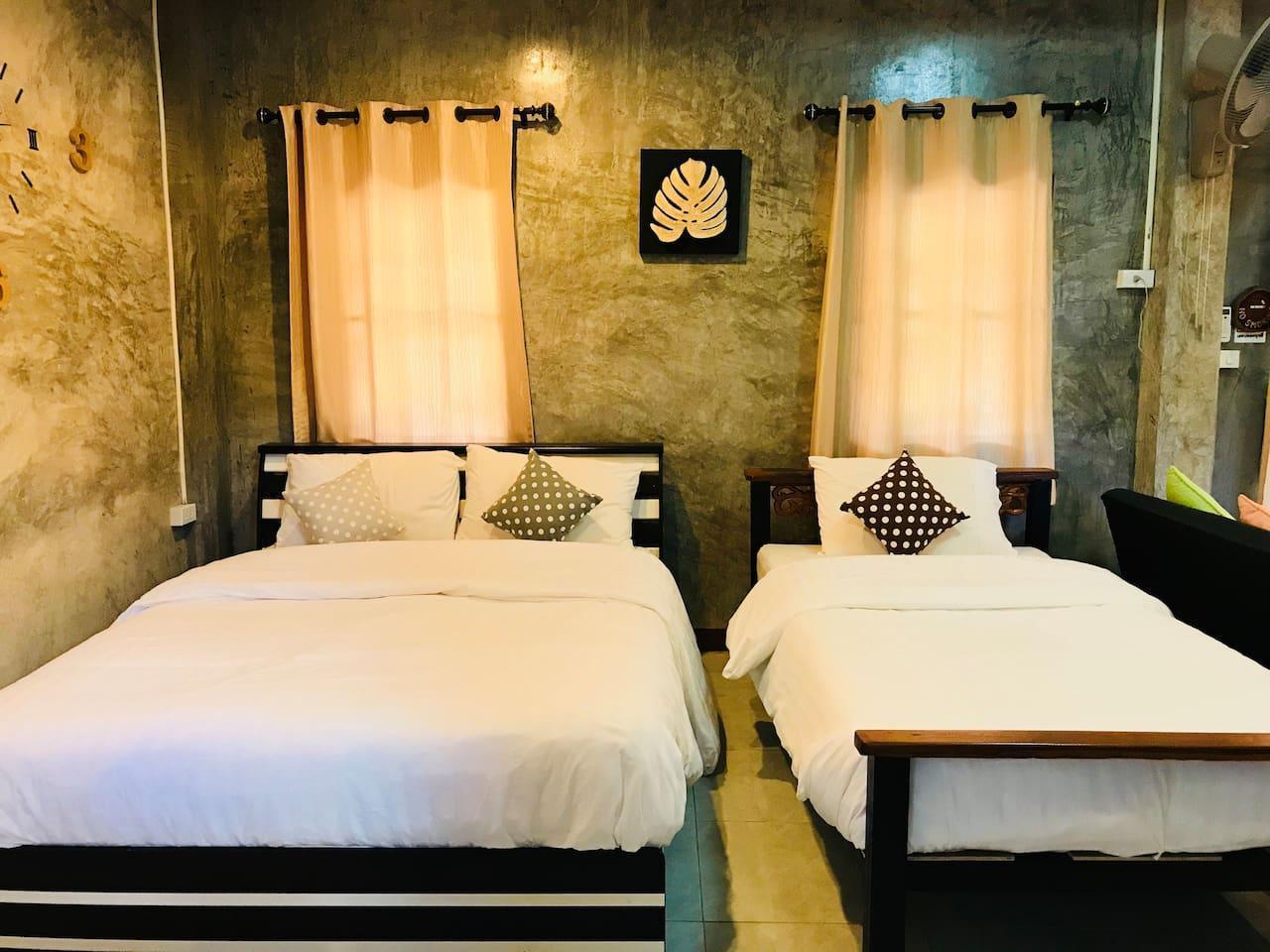 Plern Malee Private Suite, for 3 people 1 ห้องนอน 1 ห้องน้ำส่วนตัว ขนาด 50 ตร.ม. – ดอยอินทนนท์