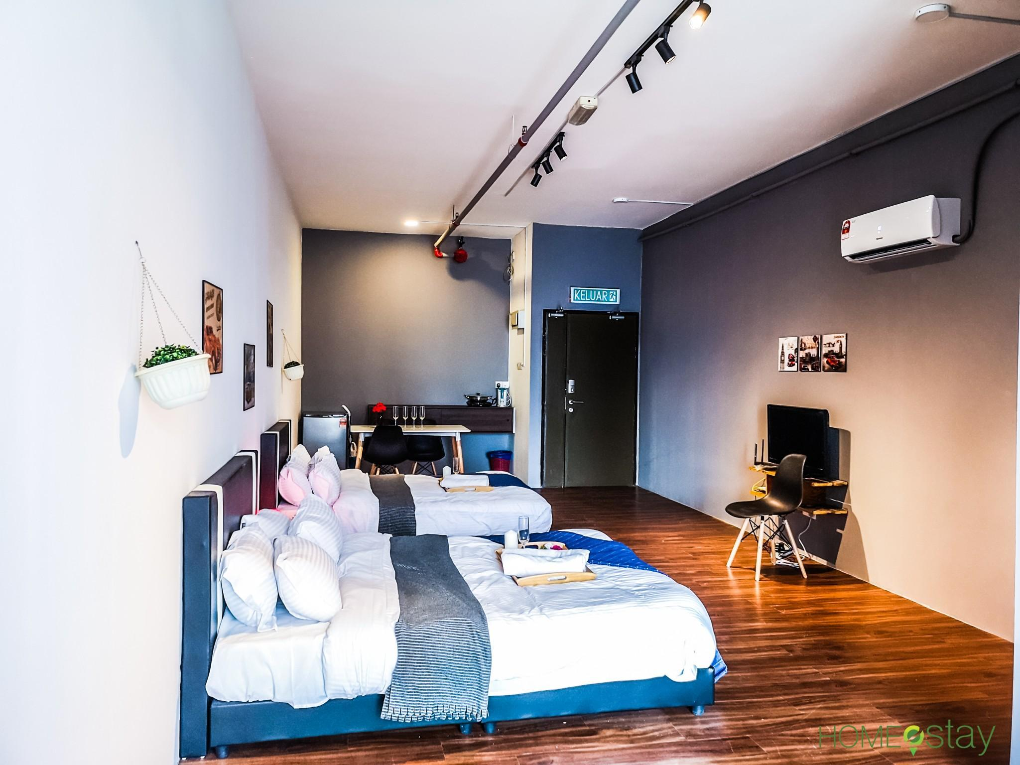 4 Person Studio Apartment W Free WIFI In Shah Alam