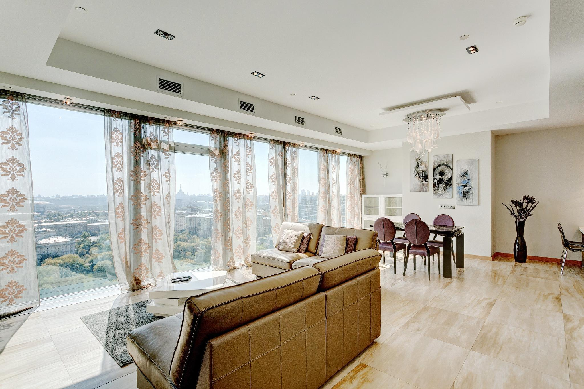 Deluxe Panoramic Apartment In The Moscow City