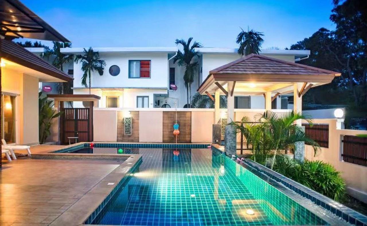 Blue Vivid Villa 3BR Sleeps 6 w/Private Pool วิลลา 3 ห้องนอน 4 ห้องน้ำส่วนตัว ขนาด 460 ตร.ม. – ในหาน