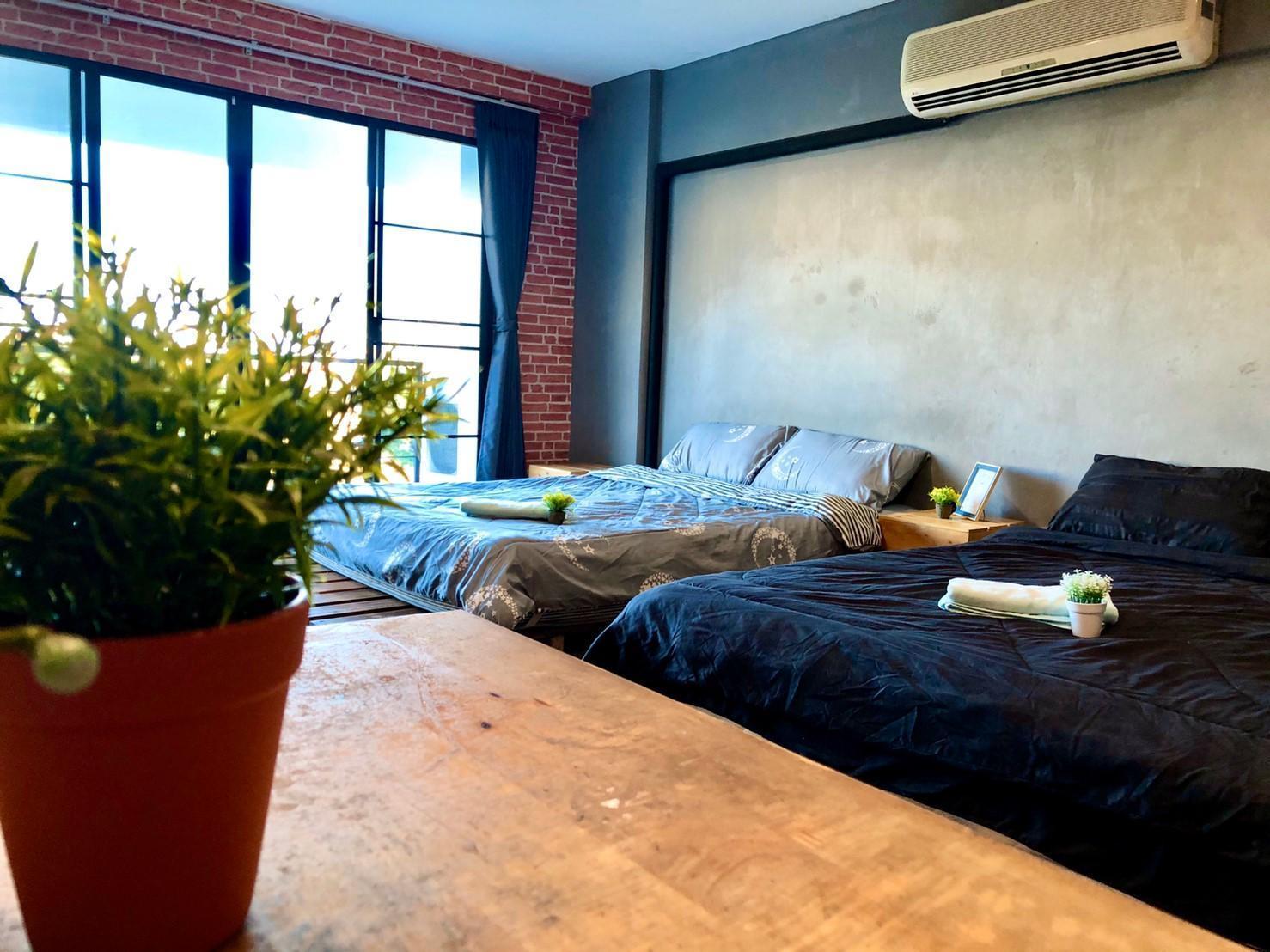 Studioroom with 2beds,Only 5 mins to Nimmanhemin อพาร์ตเมนต์ 1 ห้องนอน 1 ห้องน้ำส่วนตัว ขนาด 35 ตร.ม. – นิมมานเหมินทร์
