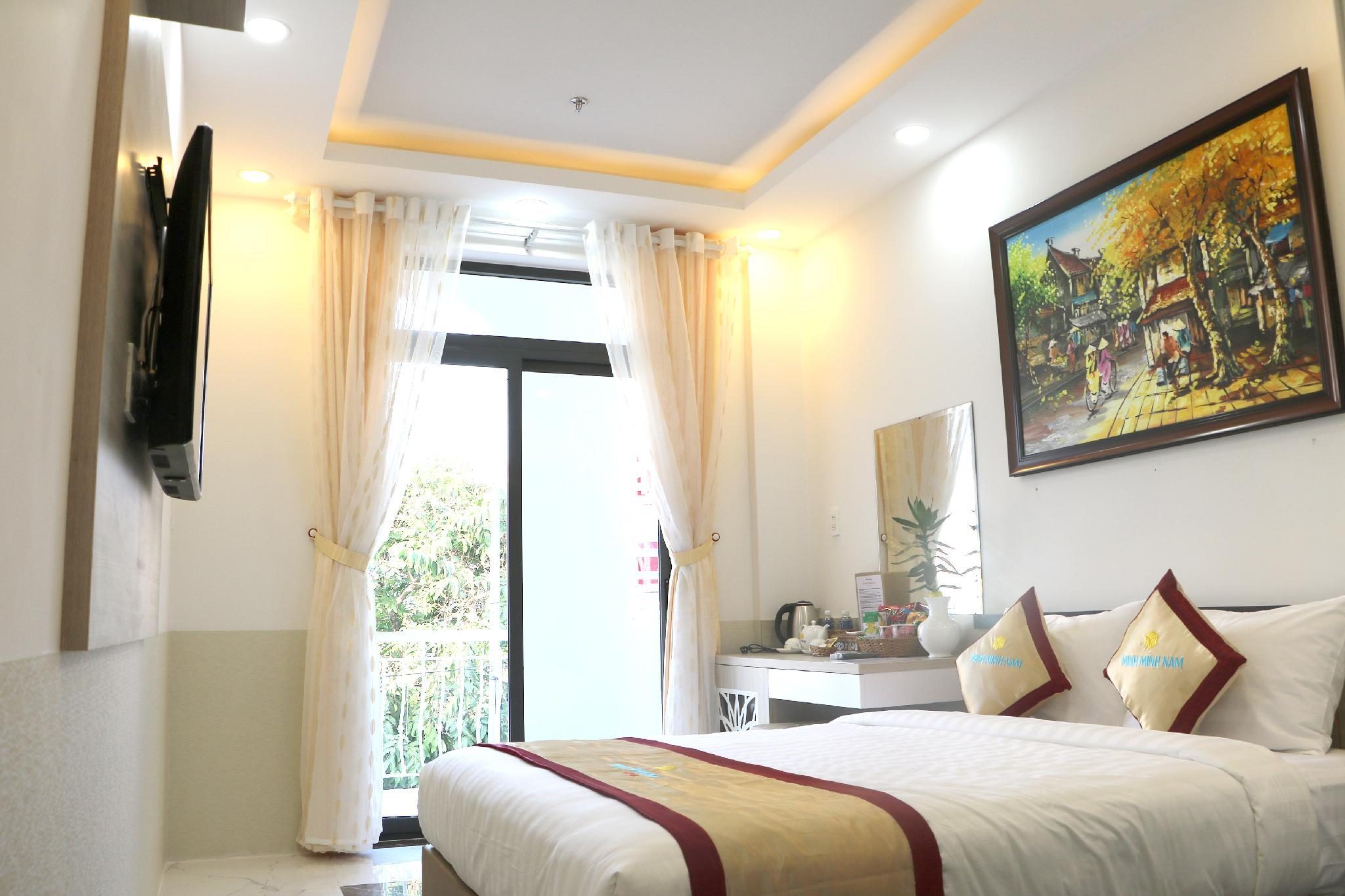 The room is quiet, clean and airy with balcony