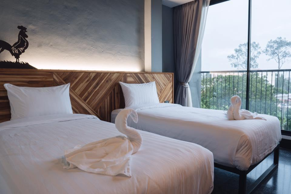 Ou Hotel By Neaw Duluxe King Room TwinBed 3