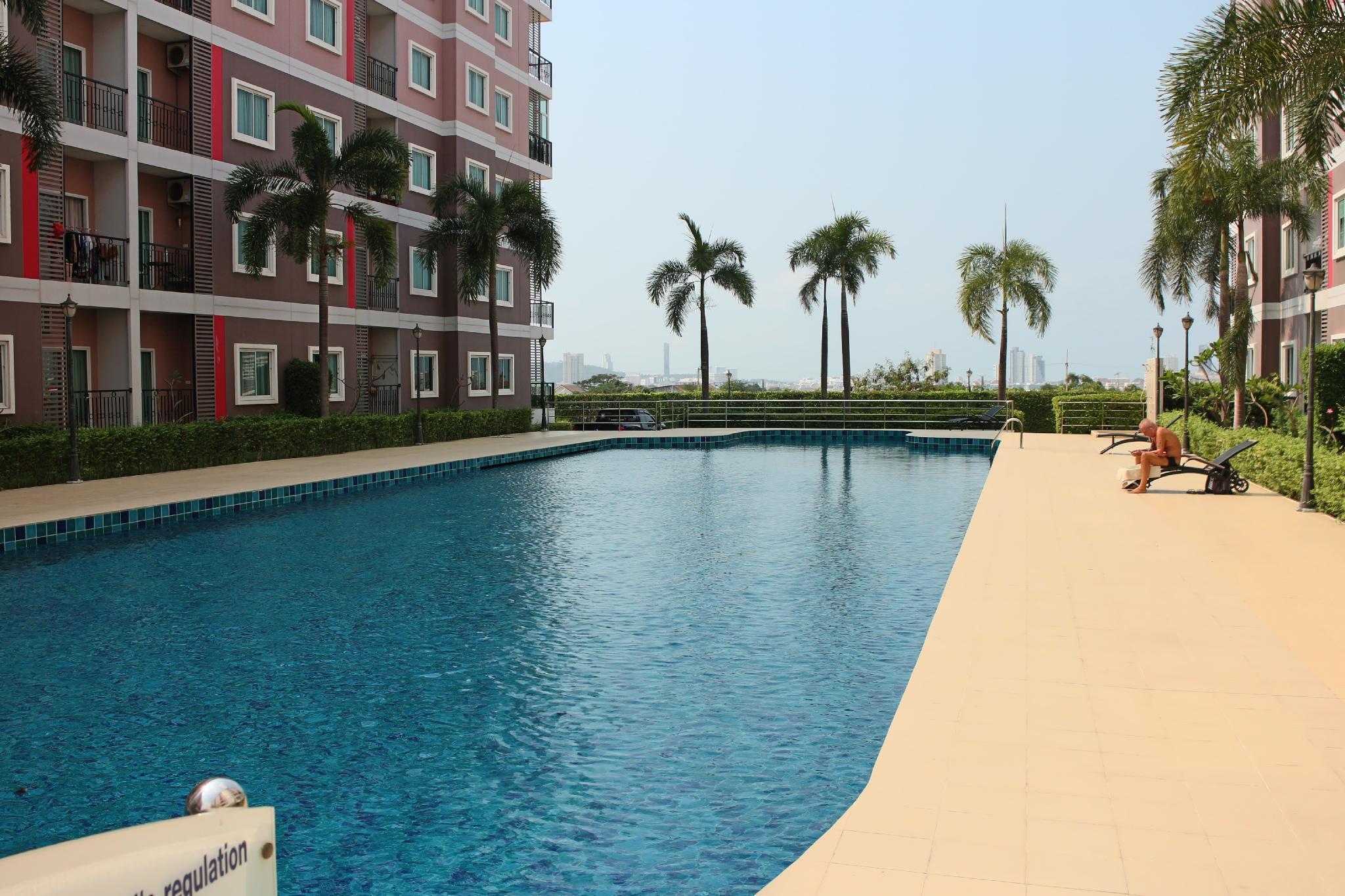 Yi Chi Hotel @ CC Condo 2 สตูดิโอ อพาร์ตเมนต์ 1 ห้องน้ำส่วนตัว ขนาด 34 ตร.ม. – พัทยากลาง