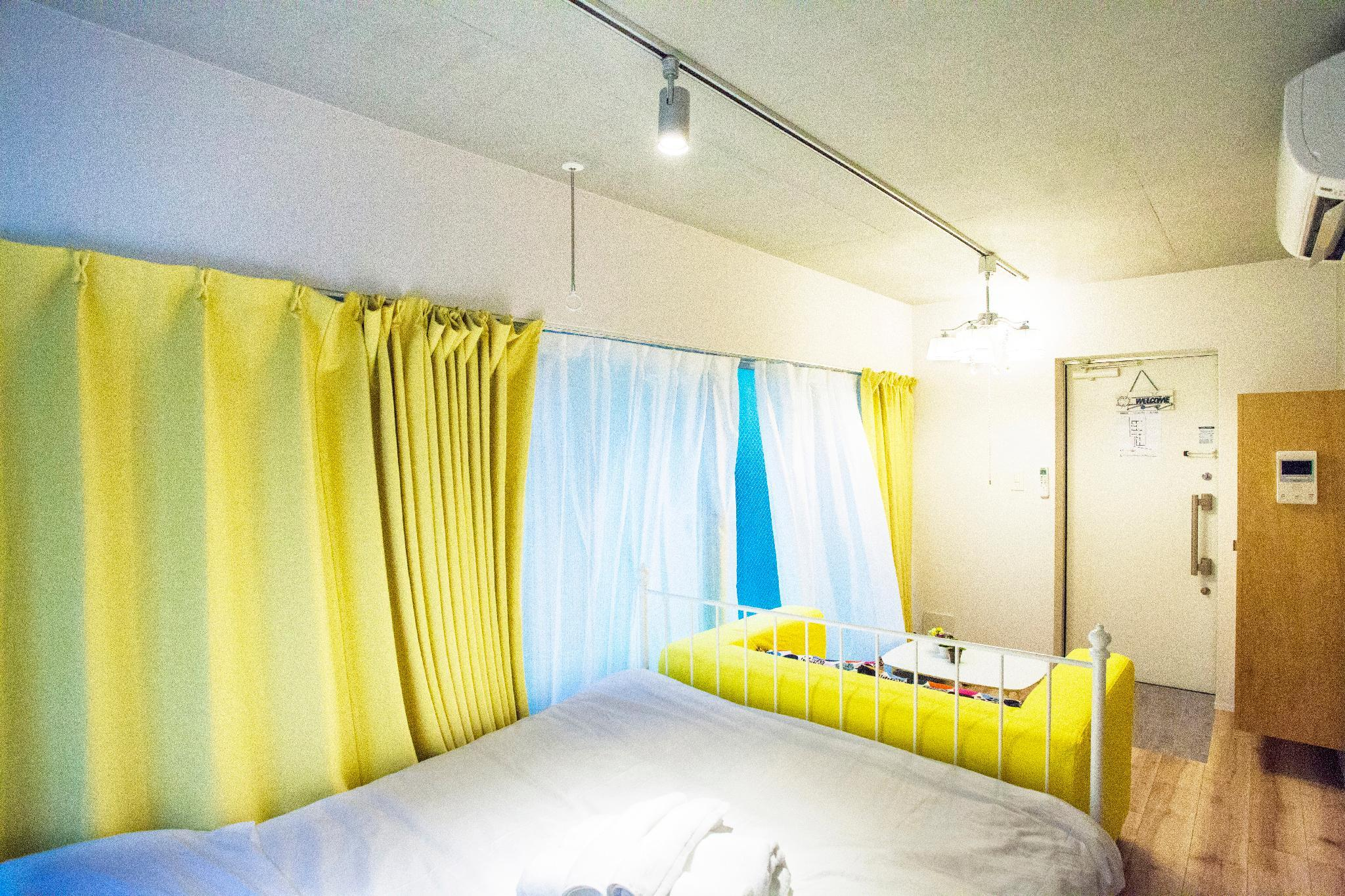 Queen Size Bed 6min To Subway Sta. H401