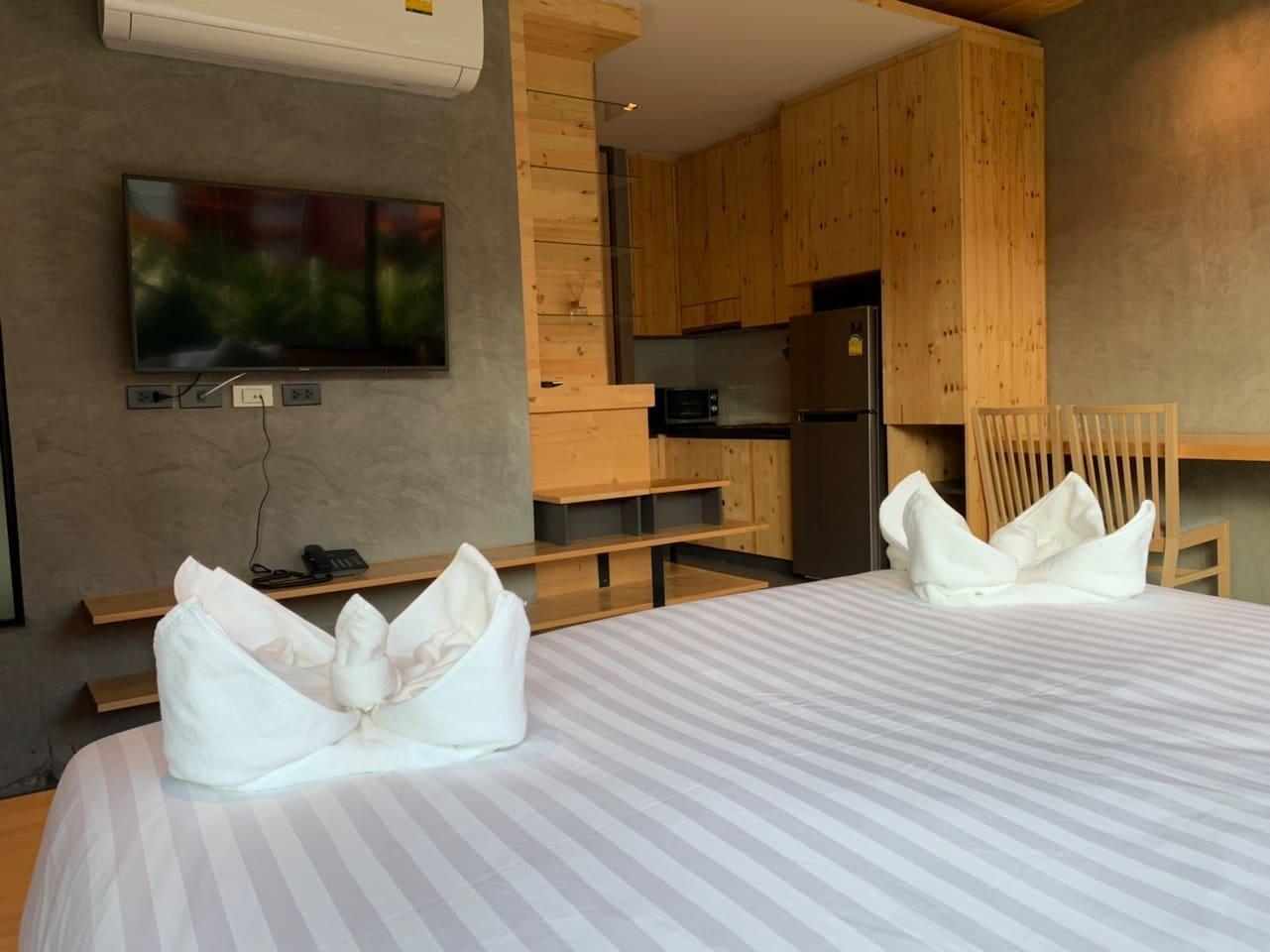 Nai Harn beach holiday@the windy 2 อพาร์ตเมนต์ 1 ห้องนอน 1 ห้องน้ำส่วนตัว ขนาด 30 ตร.ม. – ในหาน