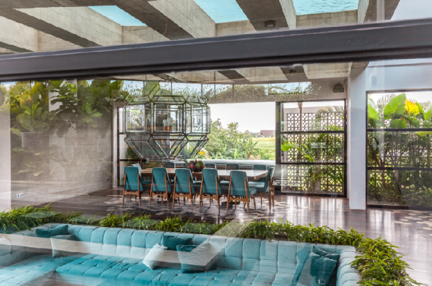 Pleasure dome features a glass bottomed pool