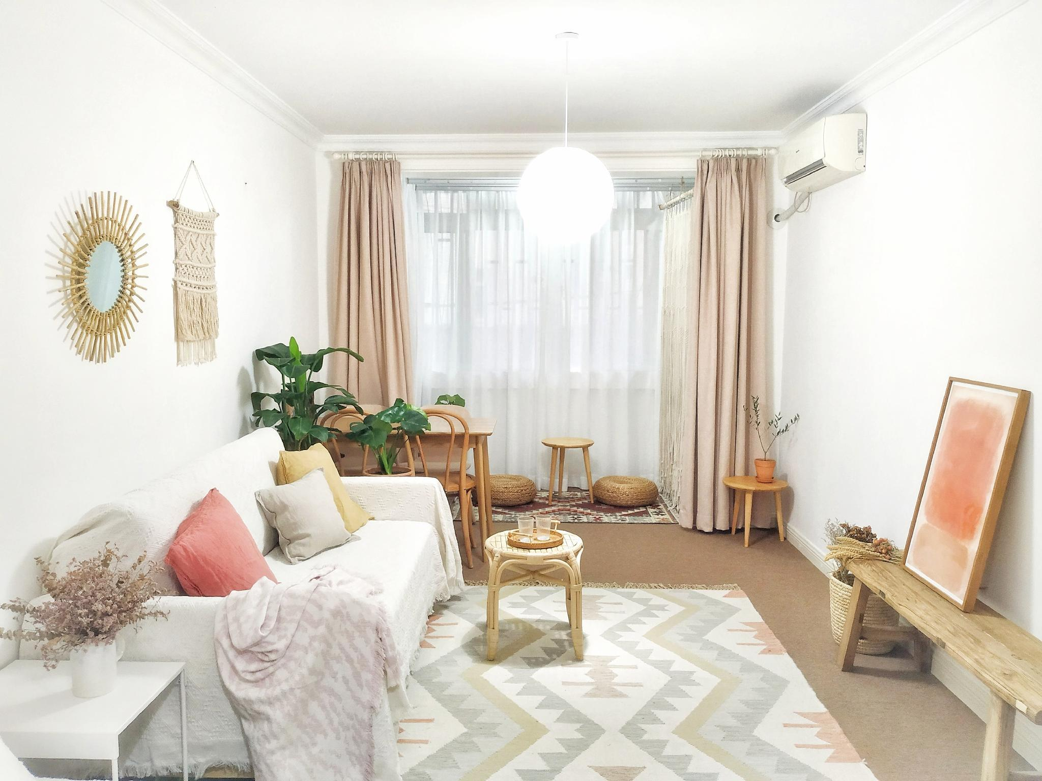 Reviews Cozy Bohemian Style Apartment with King Size Bed