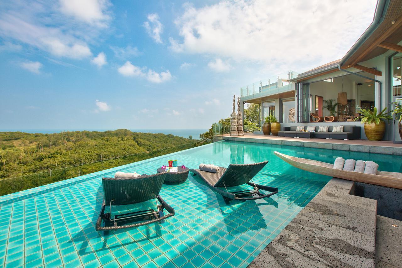 Villa Skyfall Koh Samui With Private Infinity Pool วิลลา 8 ห้องนอน 9 ห้องน้ำส่วนตัว ขนาด 900 ตร.ม. – เชิงมน
