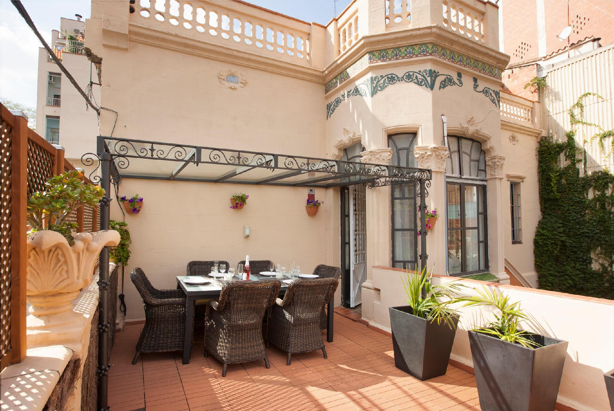 Authentic Modernist Villa In Barcelona City.