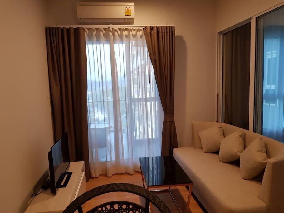 New cozy and relaxed 1-bedroom-condo room อพาร์ตเมนต์ 1 ห้องนอน 1 ห้องน้ำส่วนตัว ขนาด 32 ตร.ม. – บางแสน
