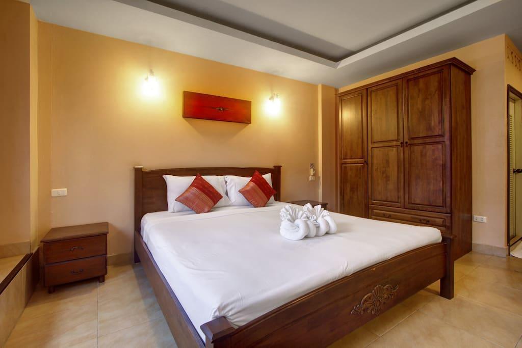 Guesthouse in the heart of Patong อพาร์ตเมนต์ 1 ห้องนอน 1 ห้องน้ำส่วนตัว ขนาด 20 ตร.ม. – ป่าตอง