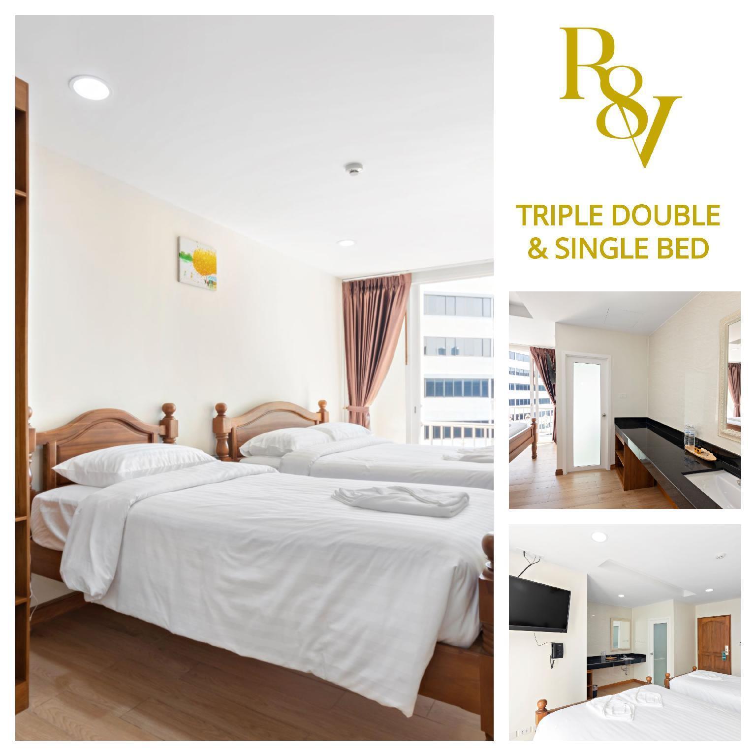 Triple Bed (TDB)-Royale 8 Ville อพาร์ตเมนต์ 2 ห้องนอน 2 ห้องน้ำส่วนตัว ขนาด 22 ตร.ม. – ข้าวสาร