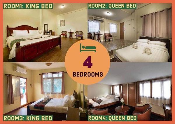 Whole House/ 12Pax/4Bedroom/ Stay+Experience Bangkok