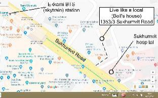 [スクンビット]アパートメント(45m2)| 1ベッドルーム/1バスルーム Live like a local in Ekkamai-Ground FL apartment